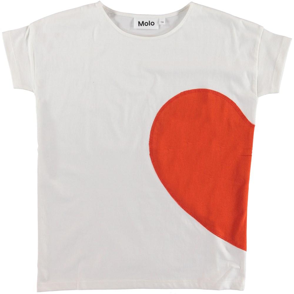 Rilla - Heart Friend - White t-shirt with heart.