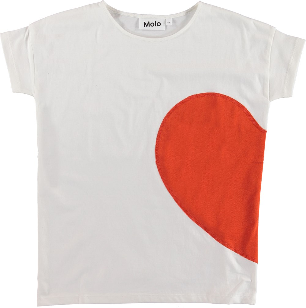 Rilla - Heart Friend - White t-shirt with heart.