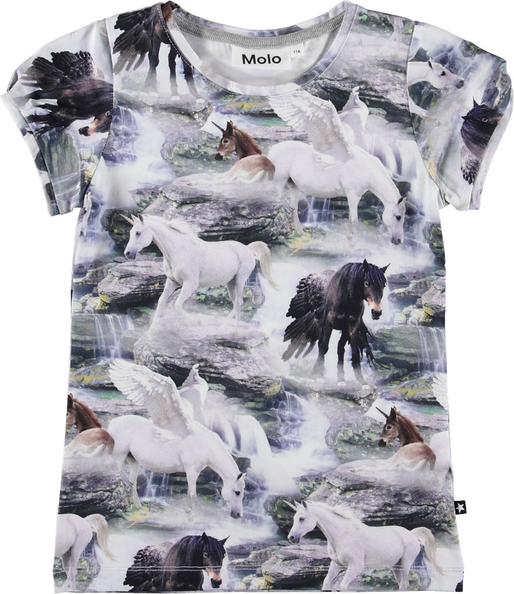 Rimona - Mythical Creatures - T-shirt with unicorns.
