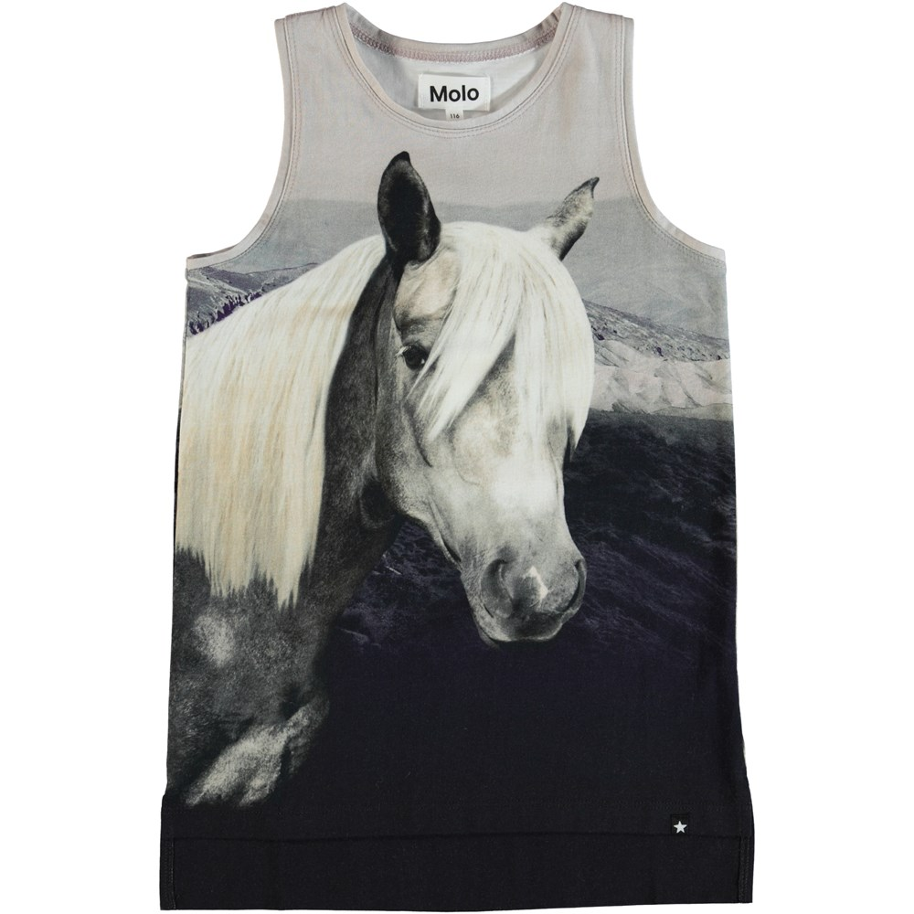 Ro - Beauty - Top with a horse on the front