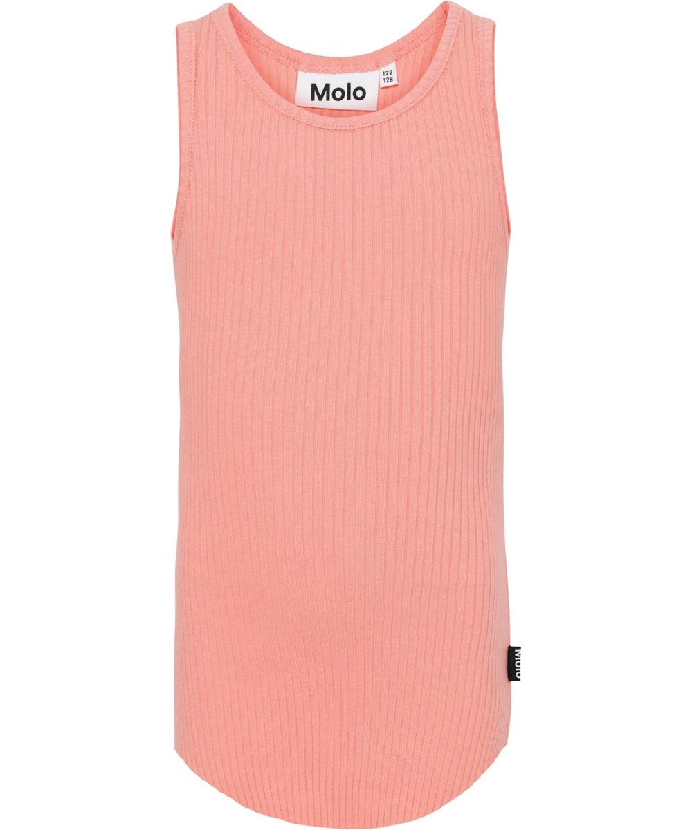 Roberta - Burnt Coral - Coral coloured vest