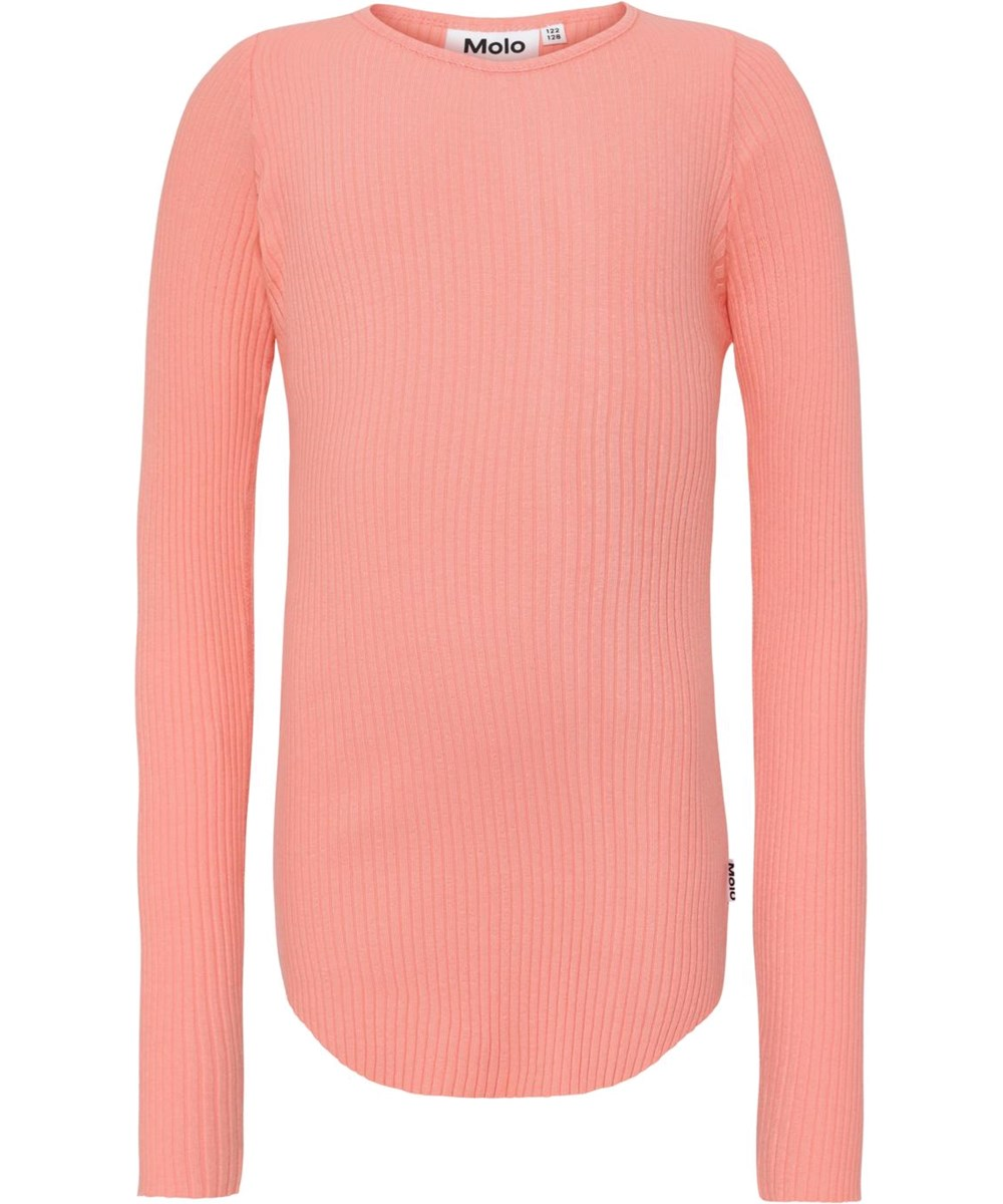 Rochelle - Burnt Coral - Coral coloured rib top