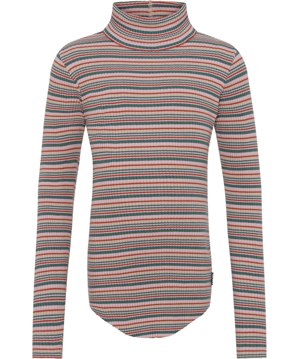 Romaine - Multistripe - Striped organic roll-neck