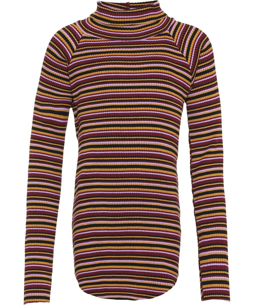 Romaine - Multi Jersey - Striped rib organic top