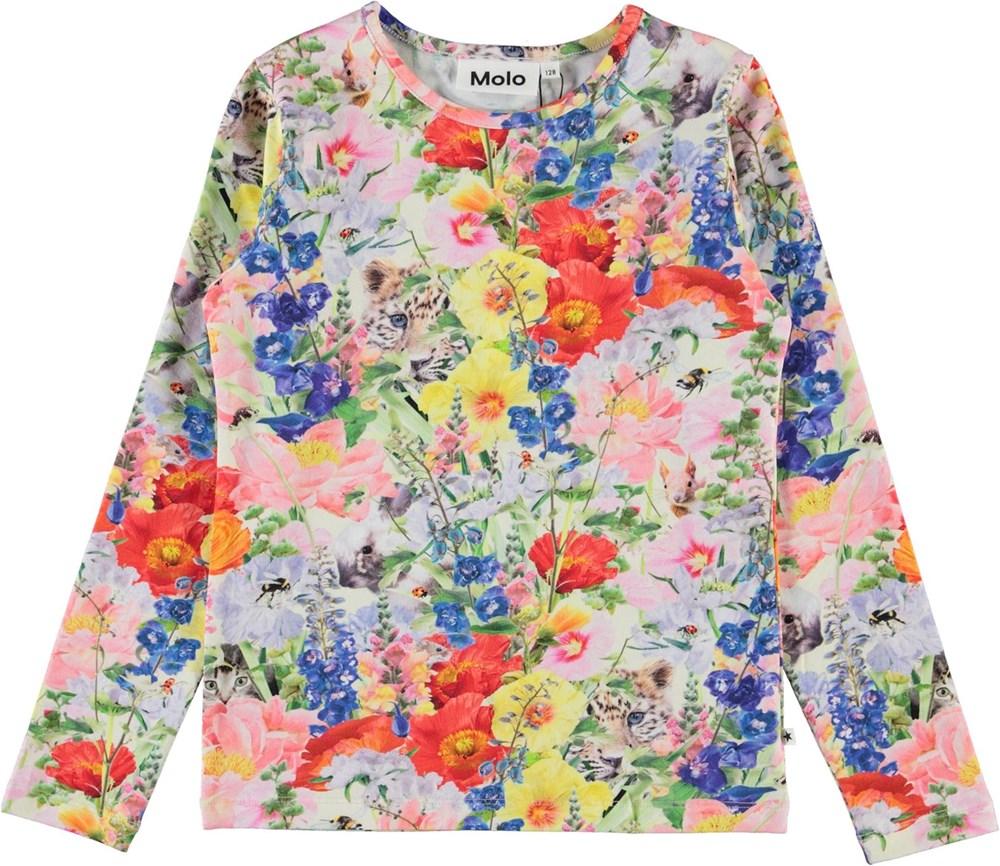 Rose - Hide And Seek - Organic top with animal floral print