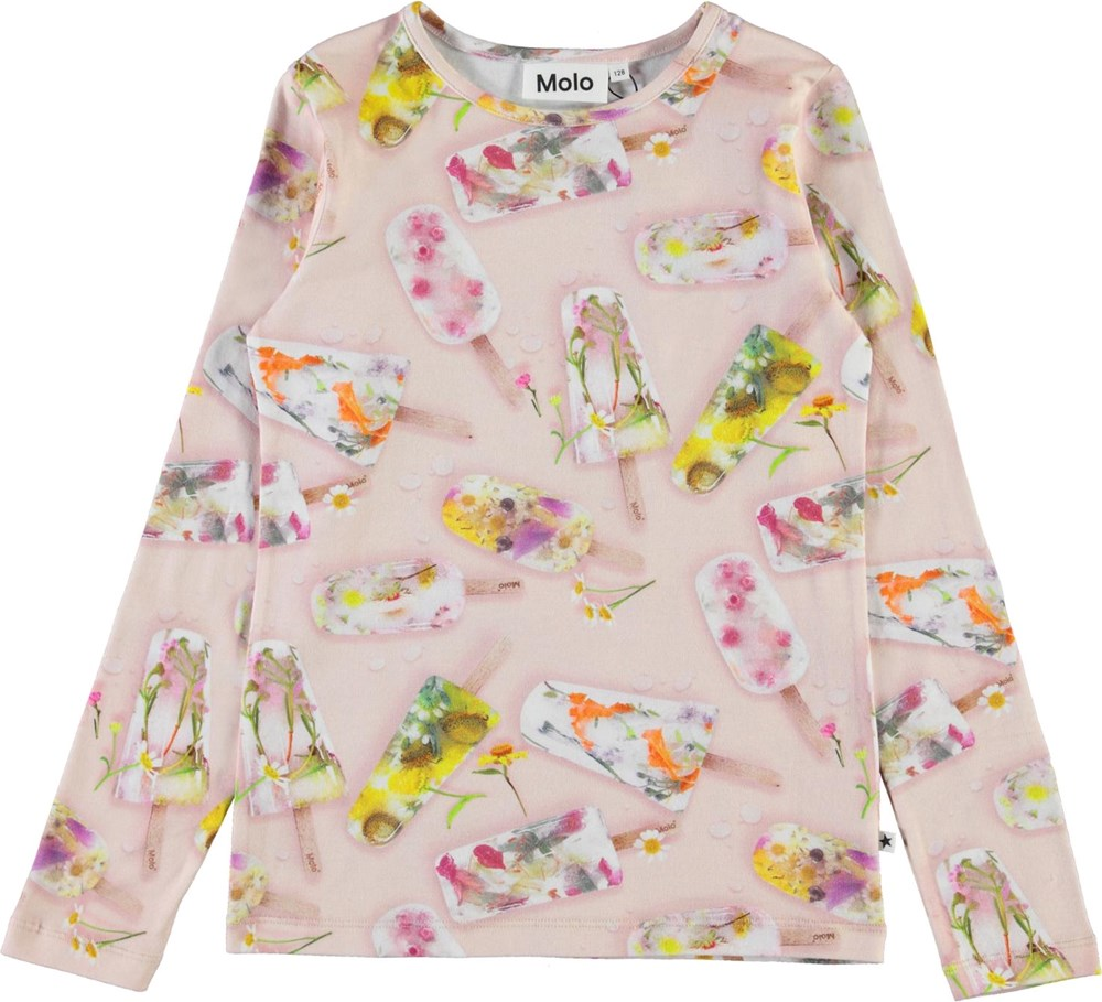 Rose - Ice Lollies - Organic top with ice print