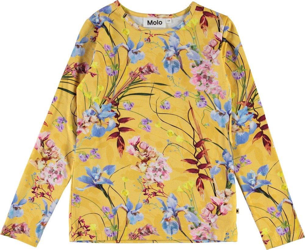 Rose - The Art Of Flowers - Yellow organic floral top