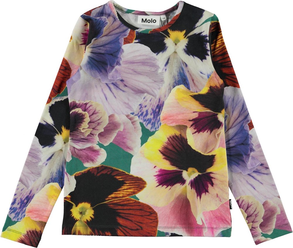 Rose - Velvet Floral - Organic top with large flower print