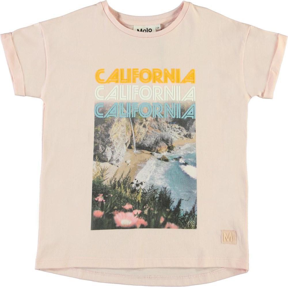 Rozinda - California - Pink organic California t-shirt