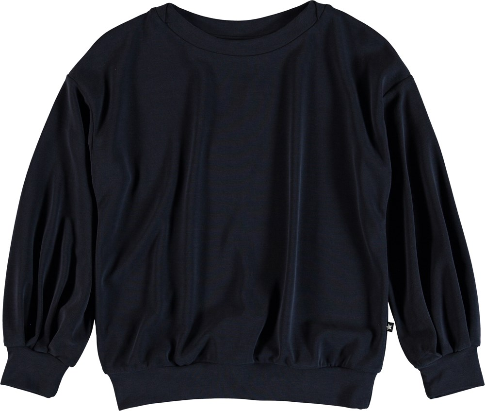 Ryba - Sky Captain - Dark blue top with wide sleeves.