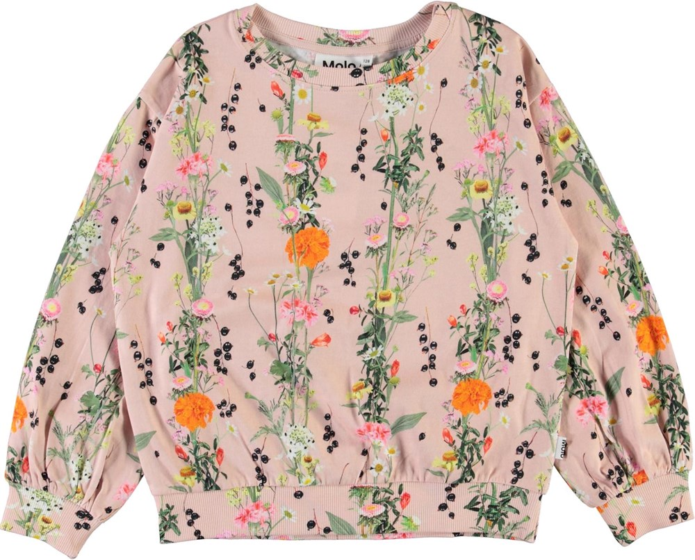 Ryba - Vertical Rose - Rose organic top with floral print