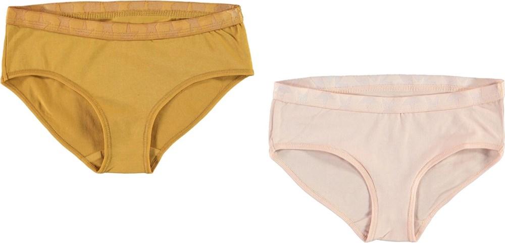 Jana 2-Pack - Blush Honey - Organic 2-pack knickers rose and yellow