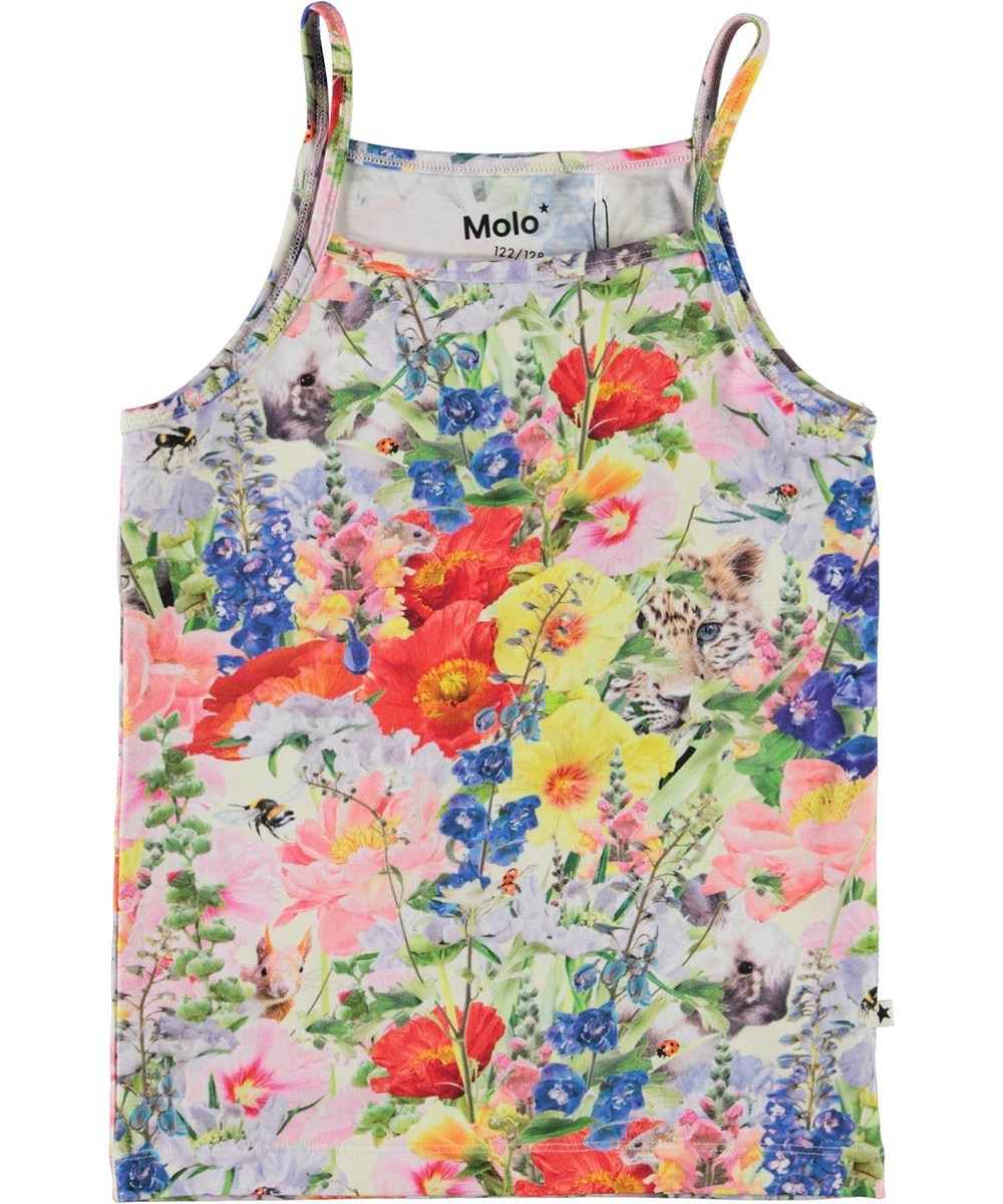 Janice - Hide And Seek - Organic camisole top with flowers