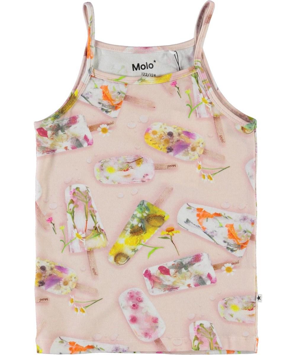 Janice - Ice Lollies - Organic camisole top with ice cream print
