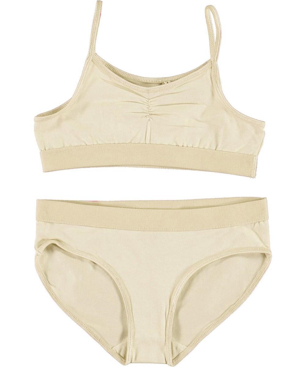 Jinny - Banana Crepe - Yellow organic underwear set