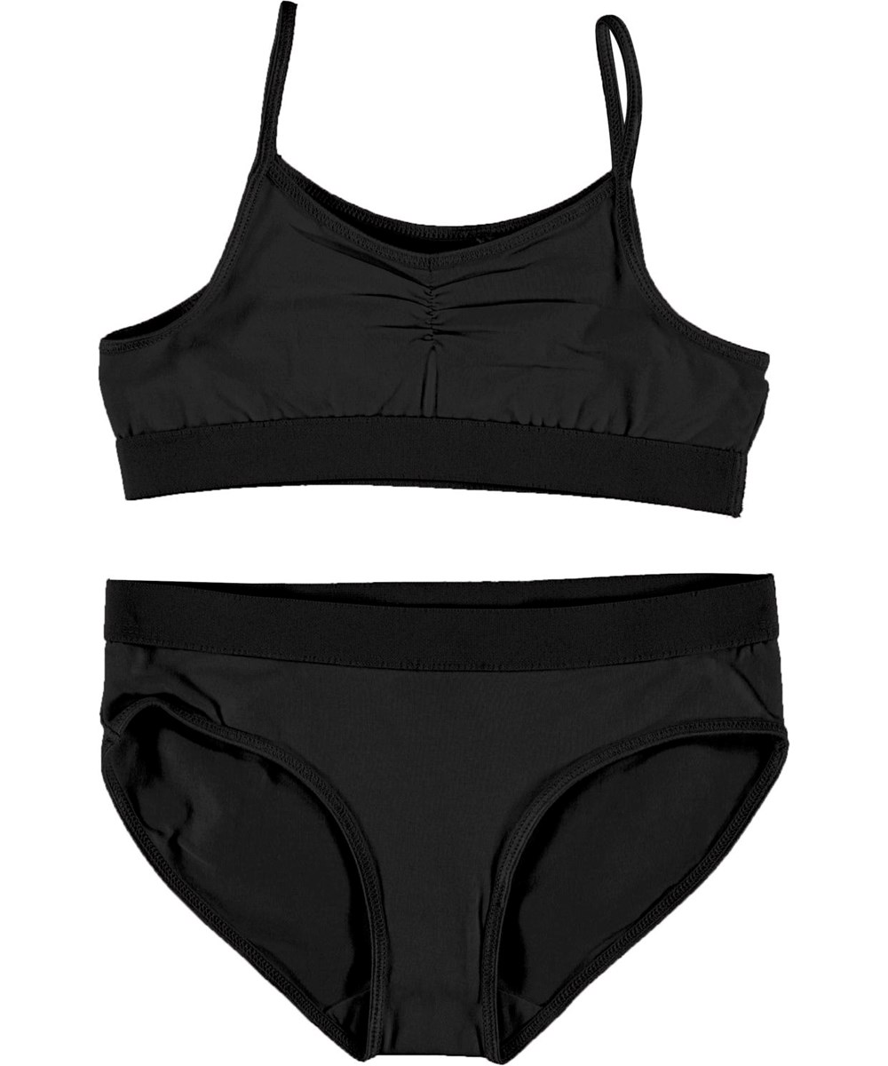 Jinny - Black - Black organic underwear set