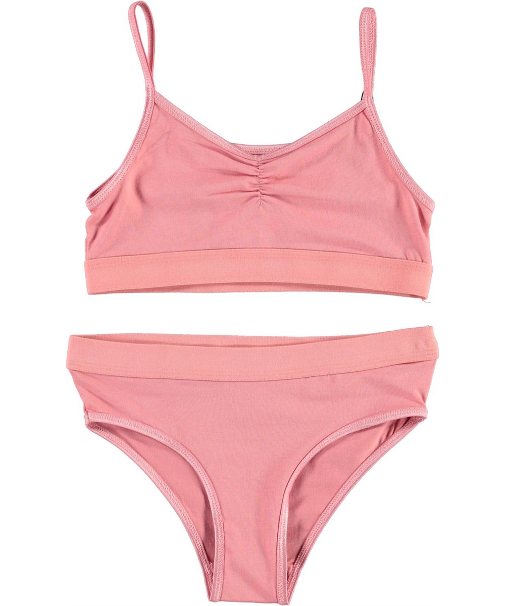 Jinny - Vintage Rose - Pink organic underwear set