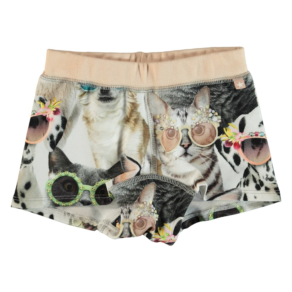 Joanna - Sunny Funny - Knickers with legs and a print of animals with sunglasses.