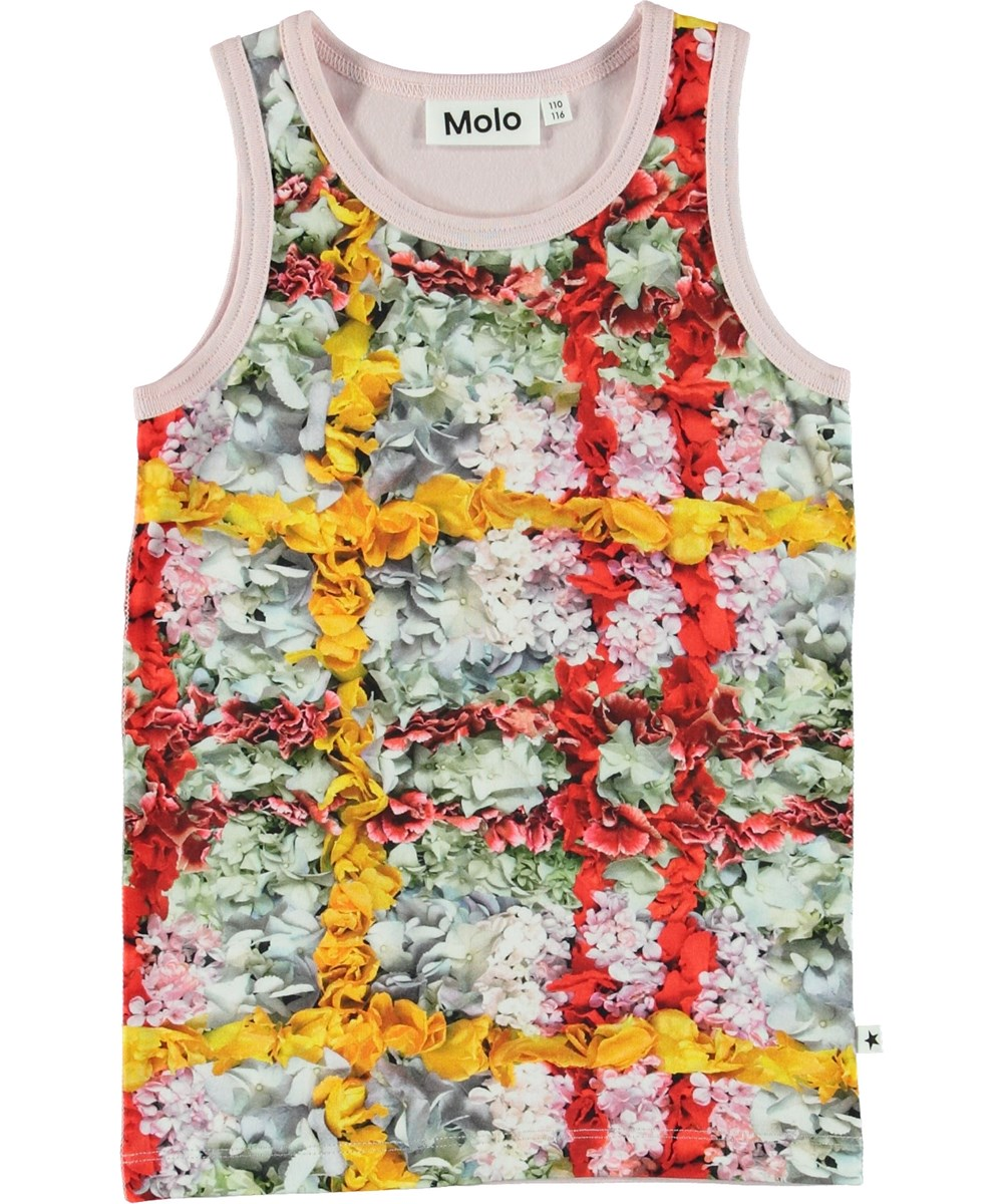 Joshlyn - Checked Flowers - Vest with flower plaid.