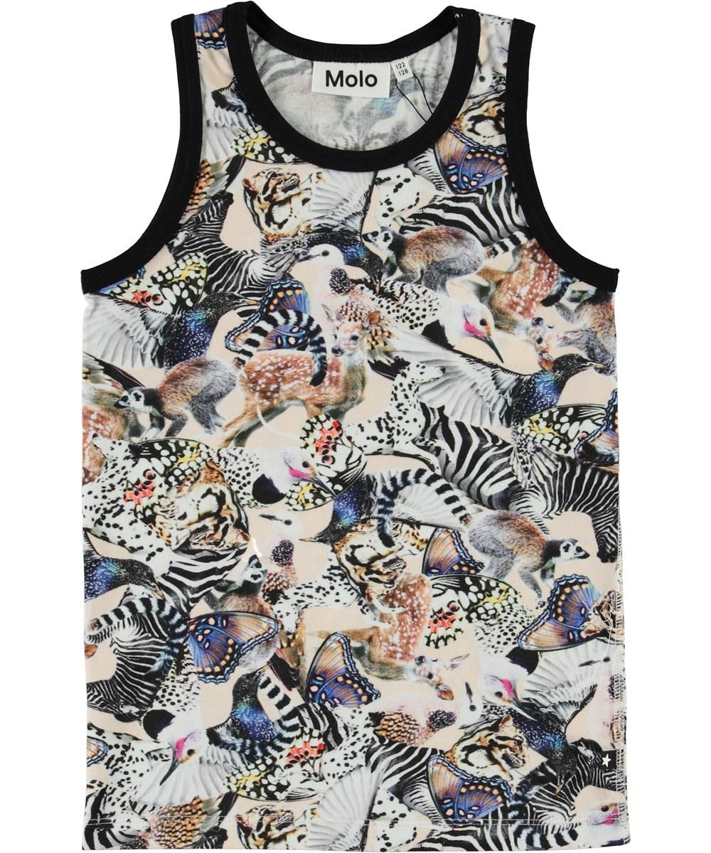 Joshlyn - Twister - Organic vest with animal print
