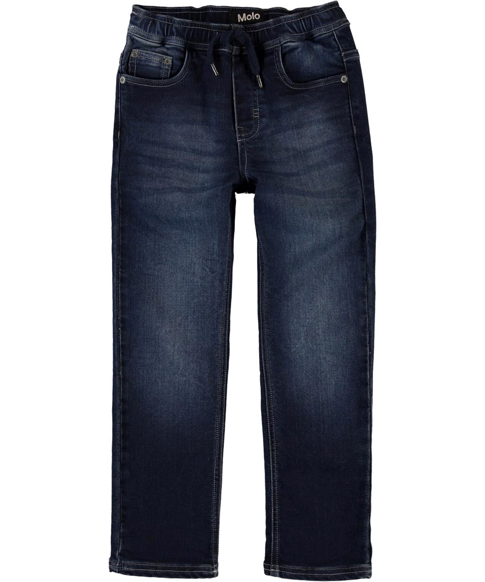 Augustino - Dark Indigo - Donkerblauwe jeans met koordjes