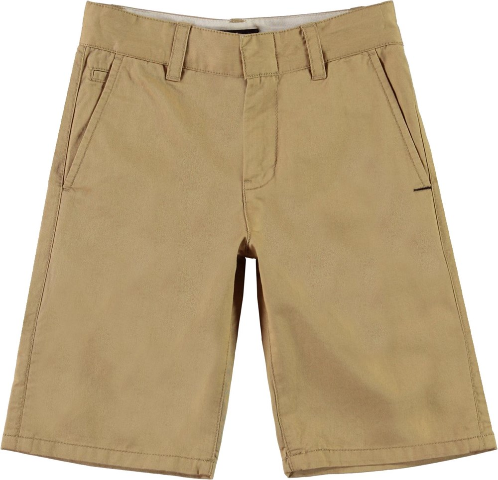 Alan - Gravel - Zandkleurige korte chino broek