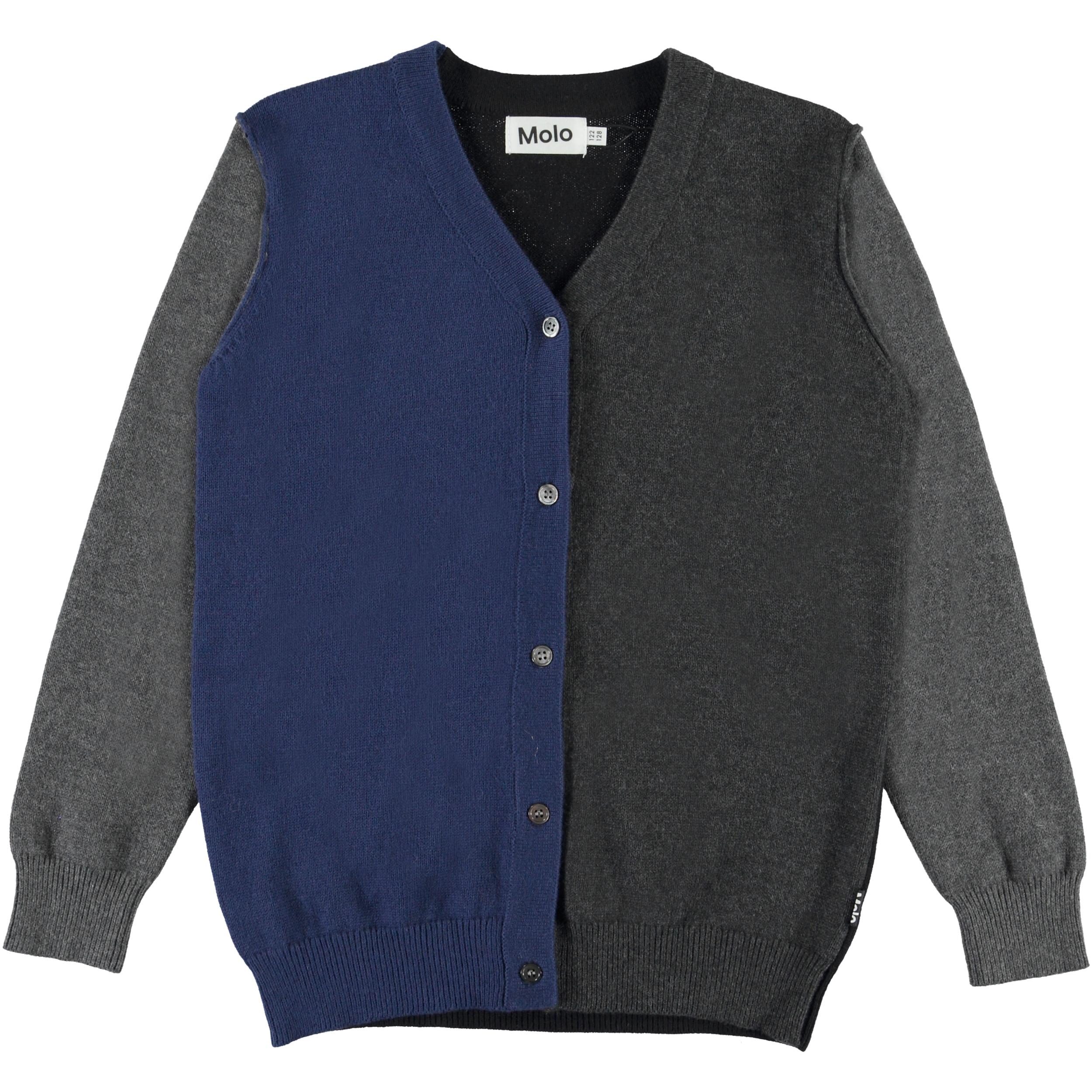 Billy Grey Melange Grijze, fijn gebreide trui van wol Molo