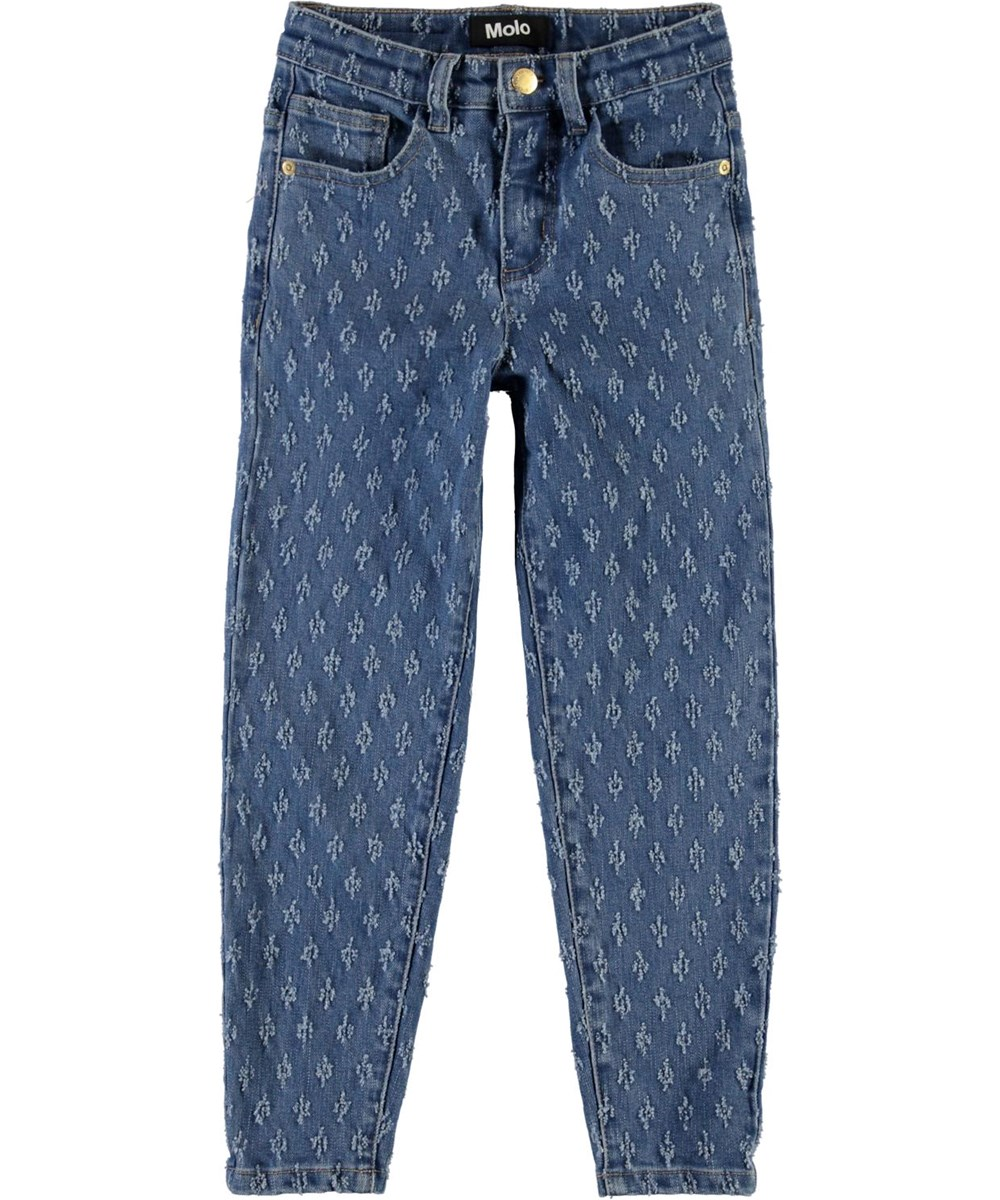 Allis - Washed Mini Holes - Ruime jeans met gaatjes patroon