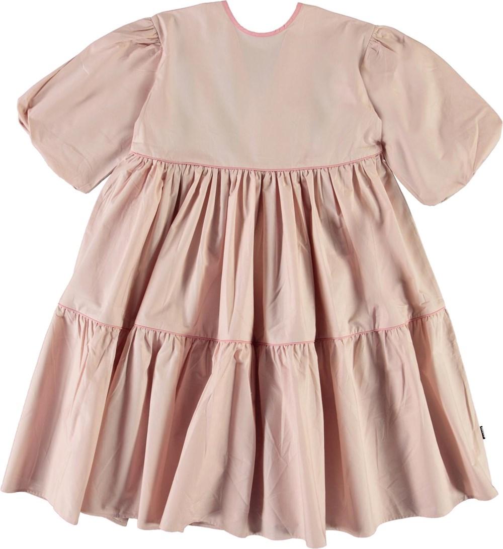 Casta - Petal Blush - Roze jurk met pofmouwen
