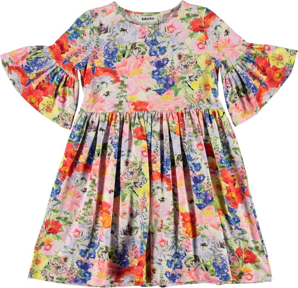 Chasity - Hide And Seek - Roze biologische jurk met bloemen