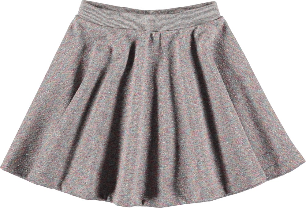 Bibi - Shimmer Grey - Grijze rok met glitters.