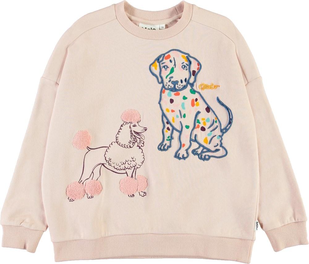 Mandy - Petal Blush - Roze sweater met honden