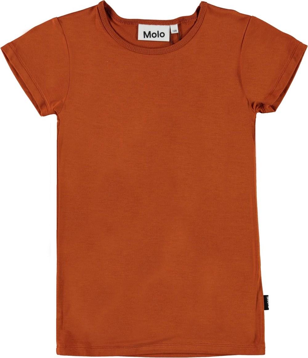 Rasmine - Autumn - Bruine biologische t-shirt