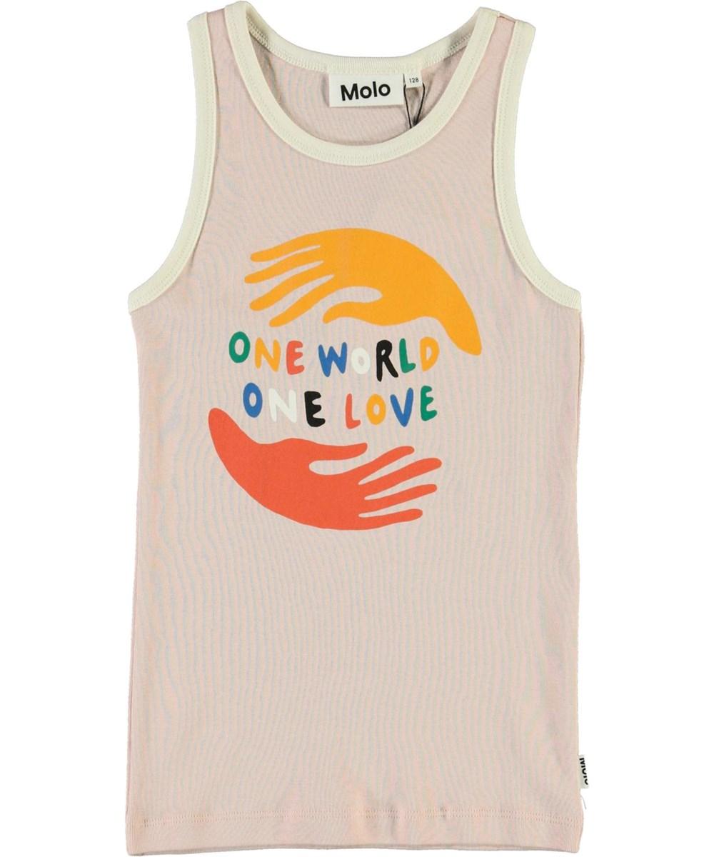 Rosie - Petal Blush - Roze hemdje met one world
