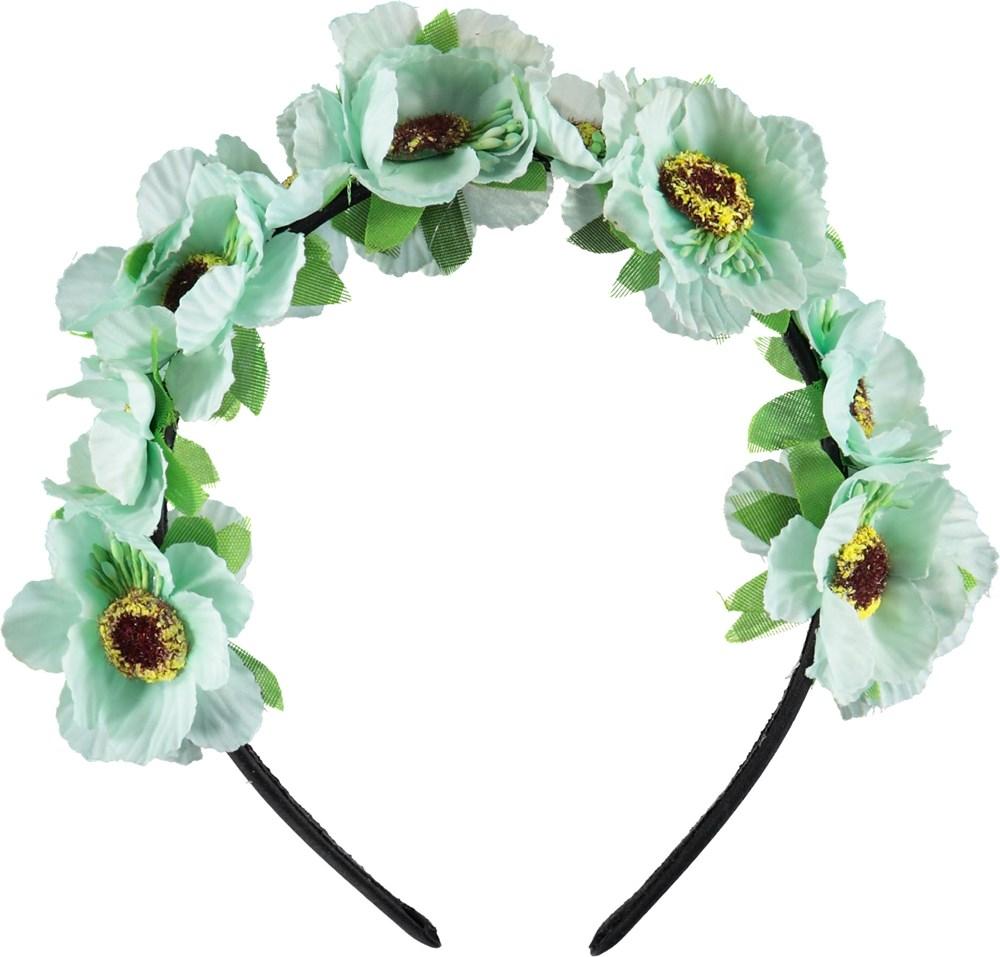 Floral Hairband - Misty Blue - Flower hairband.