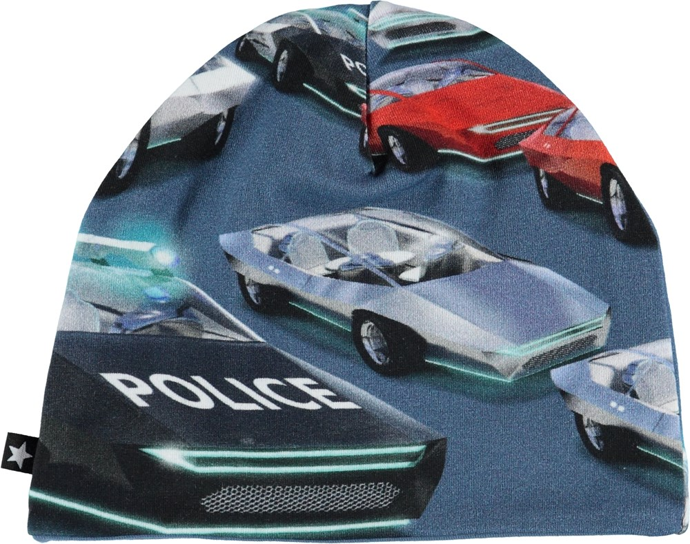 Ned - Self-Driving Cars - Baby hat with police cars.