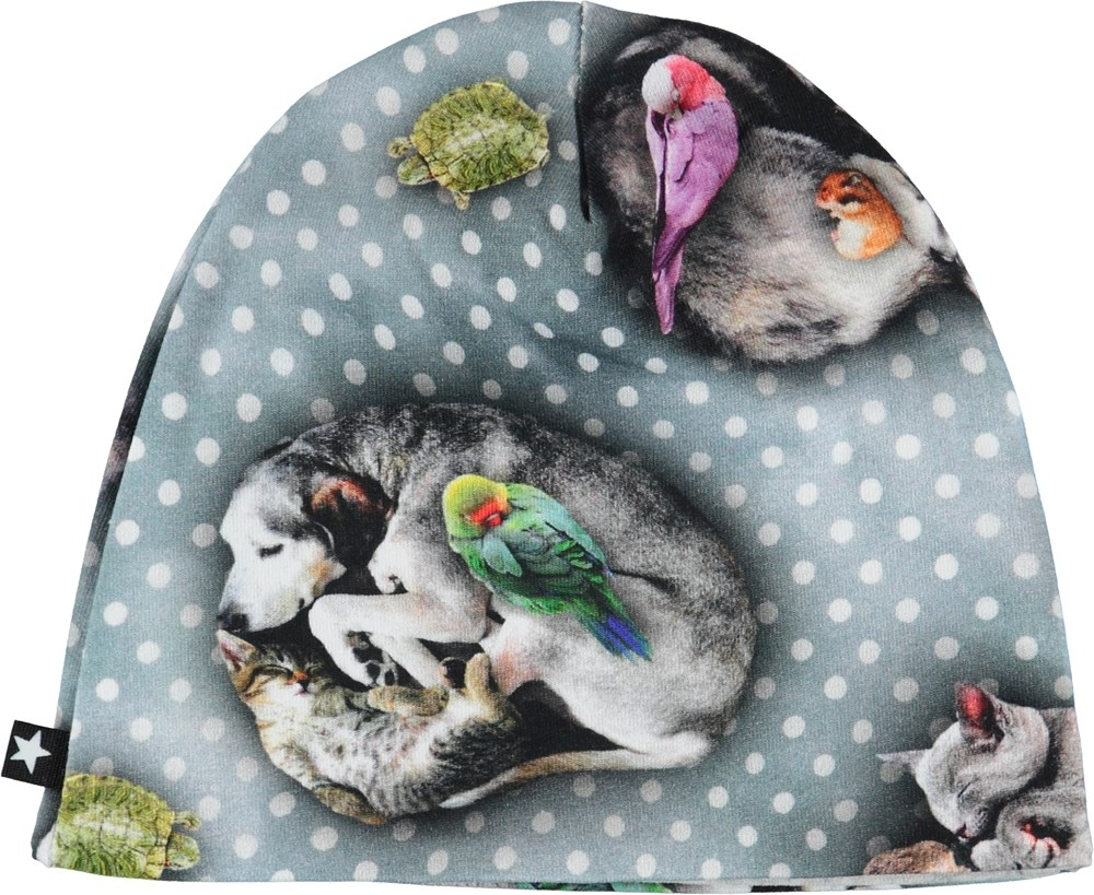 Nedine - Pets'n Dots - Baby hat with animals and dots.