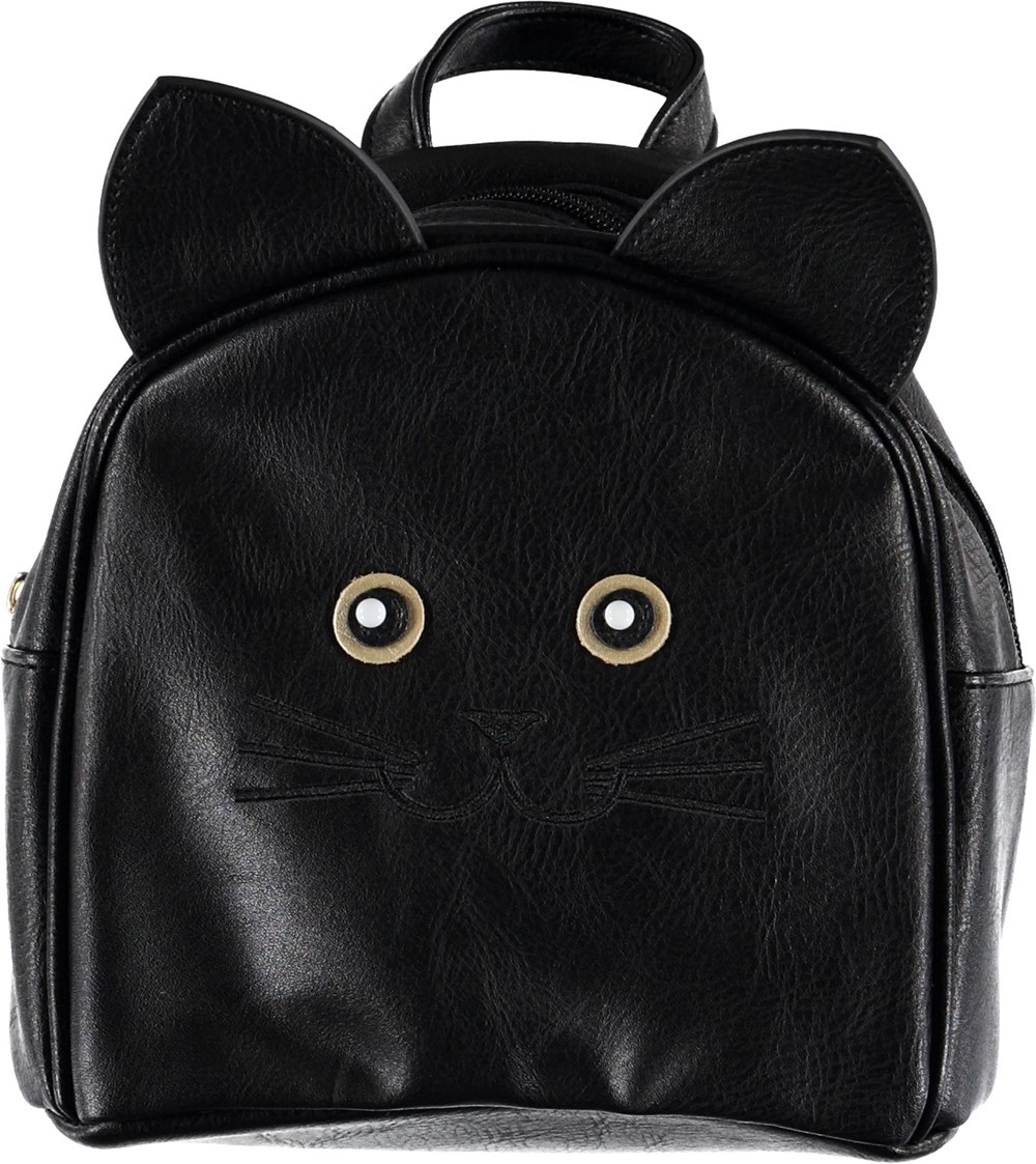 Kitty Backpack - Black - Black cat backpack.