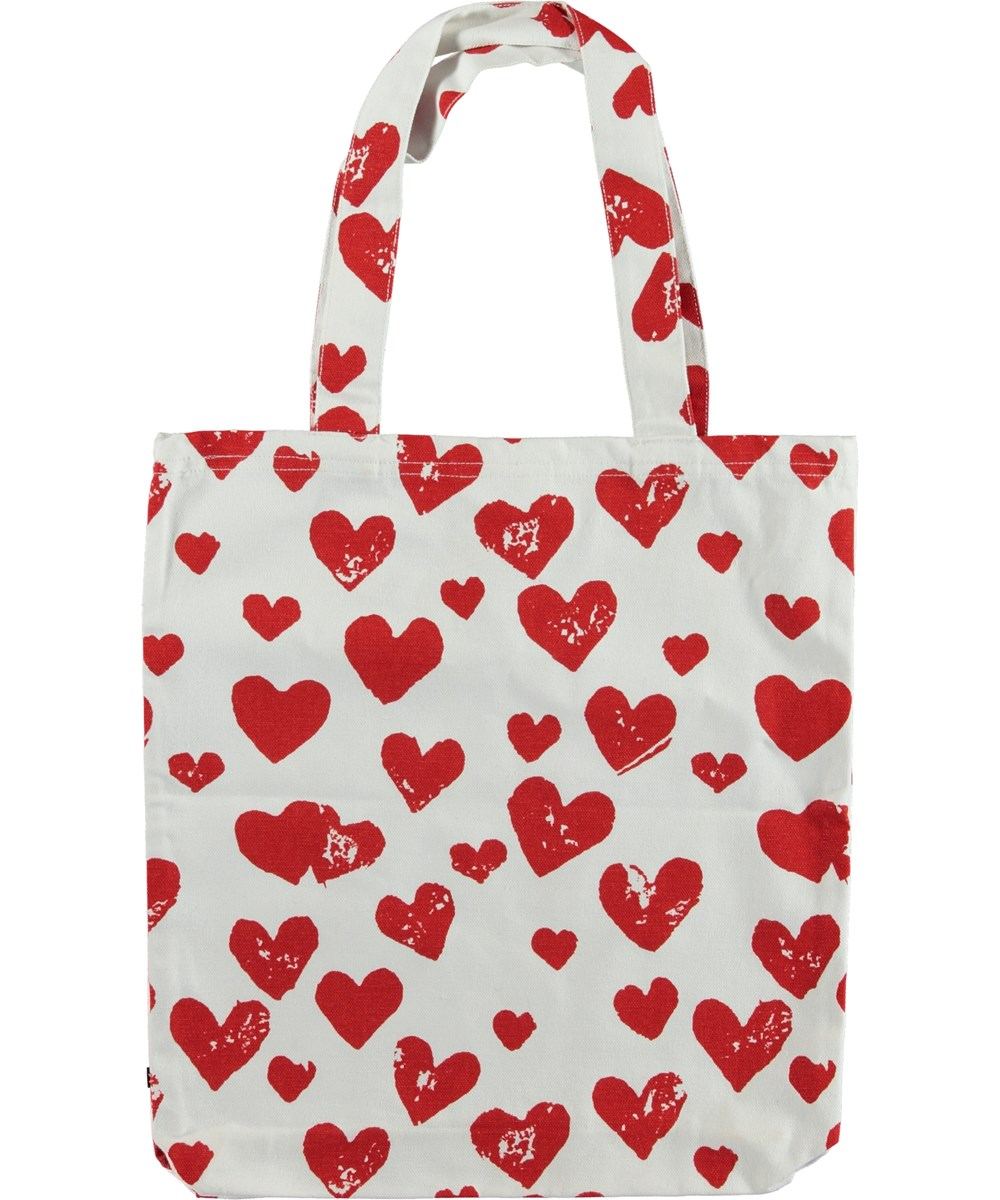 Tote Bag - Hearts - Totebag with red hearts.