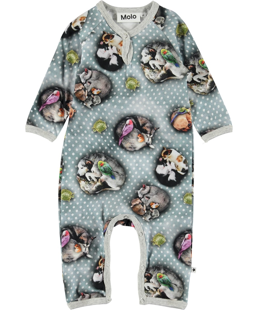 Fiona - Pets'n Dots - Baby romper with animals.