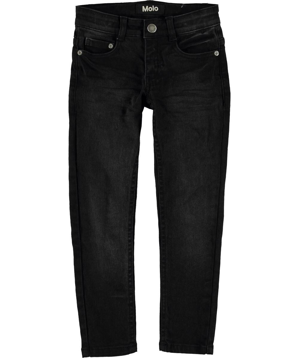 Aksel - Washed Black - Sorte slim fit jeans.