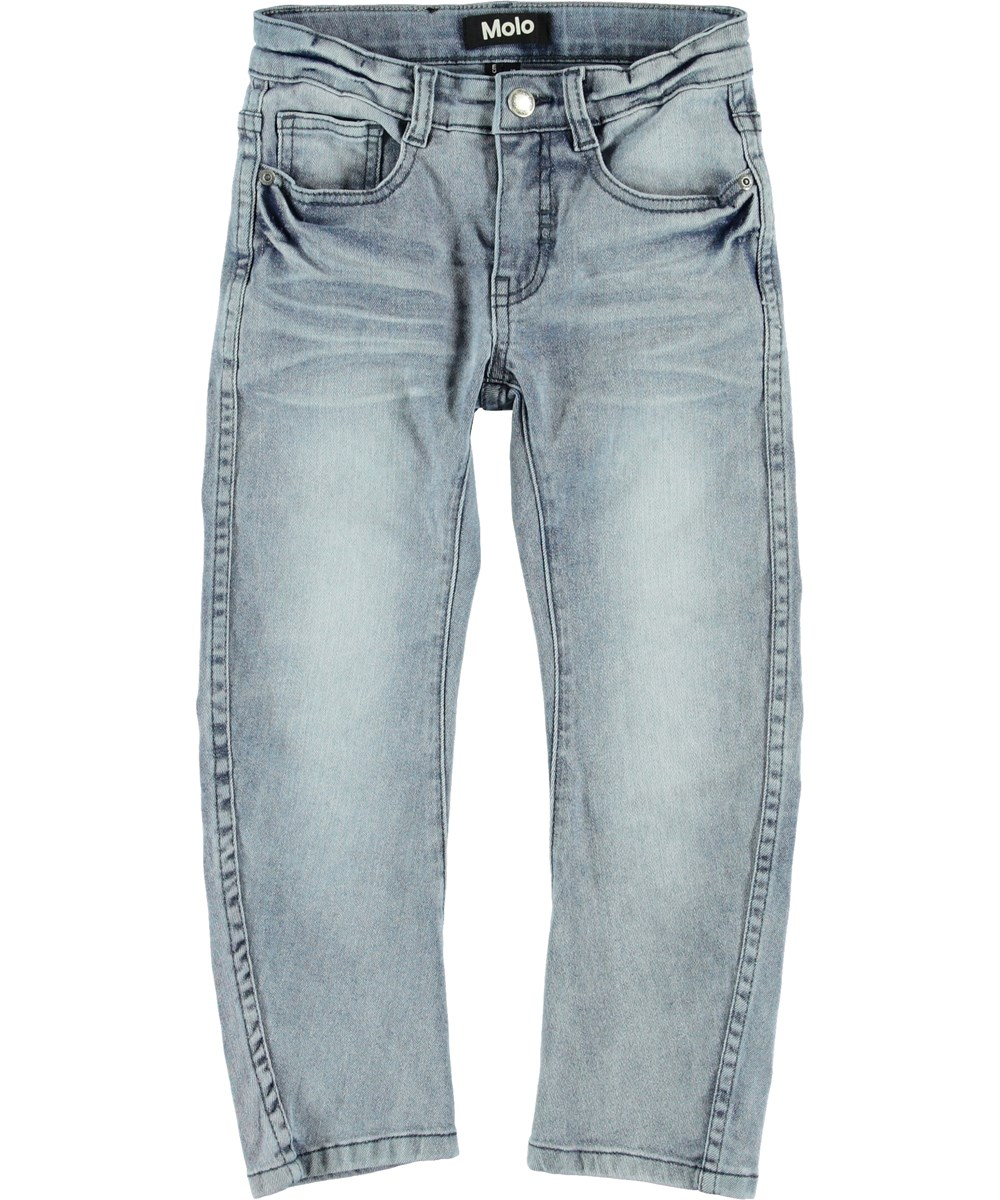 Alonso - Ash Blue - Lyseblå baggy jeans.