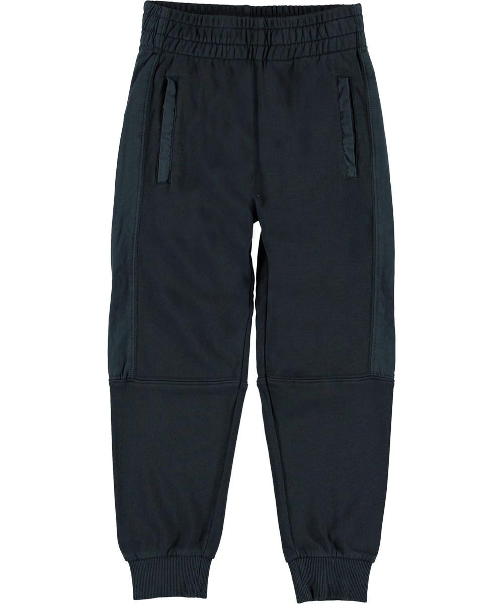 Alzo - Carbon - Trackpants blå sporty bukser.