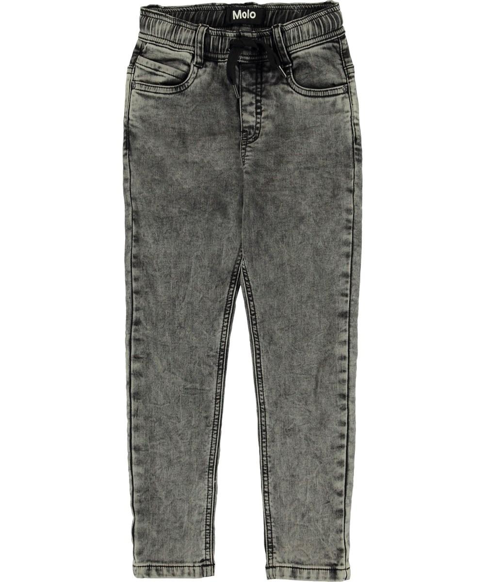 Augustino - Stonewash Grey - Grå vasket jeans.