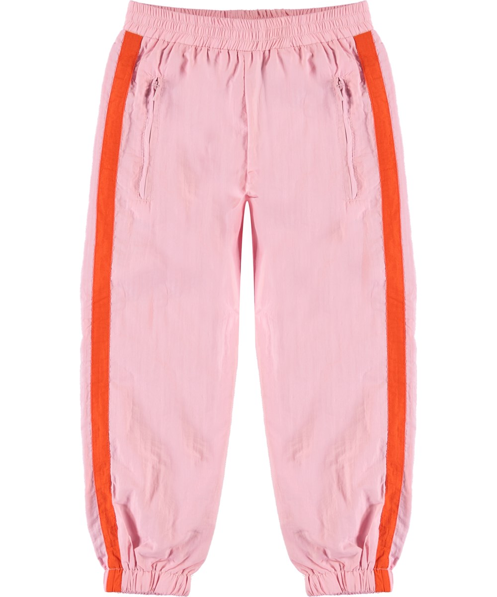 Avery - Chalk Pink - Trackpants lyserød sporty bukser.