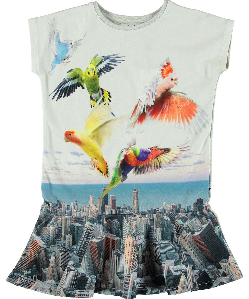 Caeley - City Birds - Dress with city and birds.