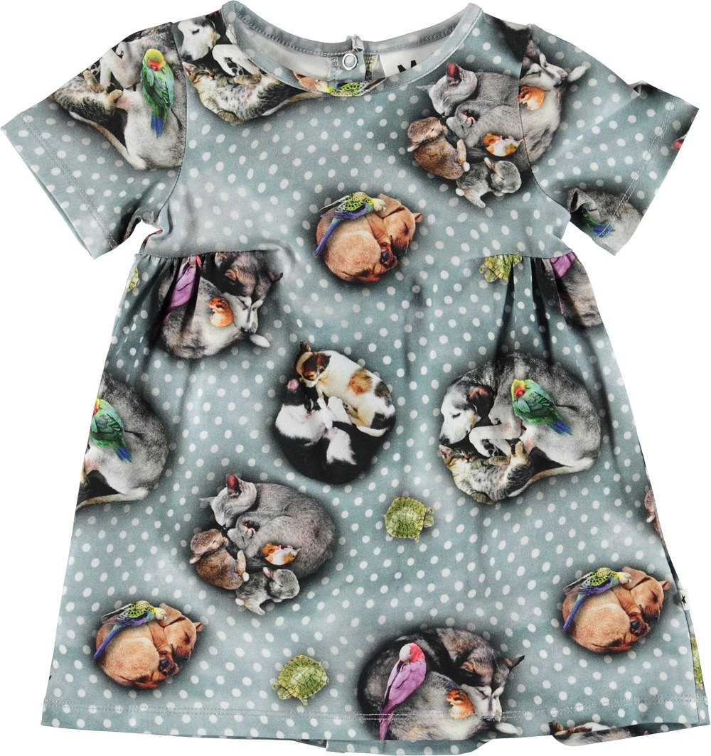 Calypso - Pets'n Dots - Baby dress with animals and dots.