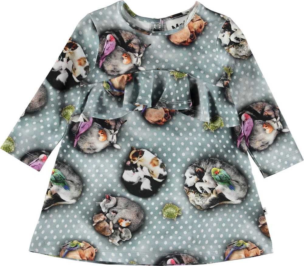 Coletta - Pets'n Dots - Baby dress with animals and dots.