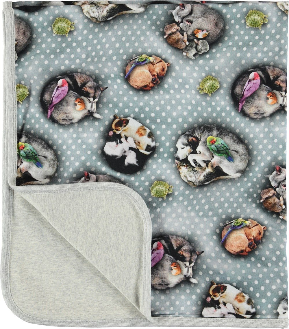 Neala - Pets'n Dots - Blanket with animals and dots.
