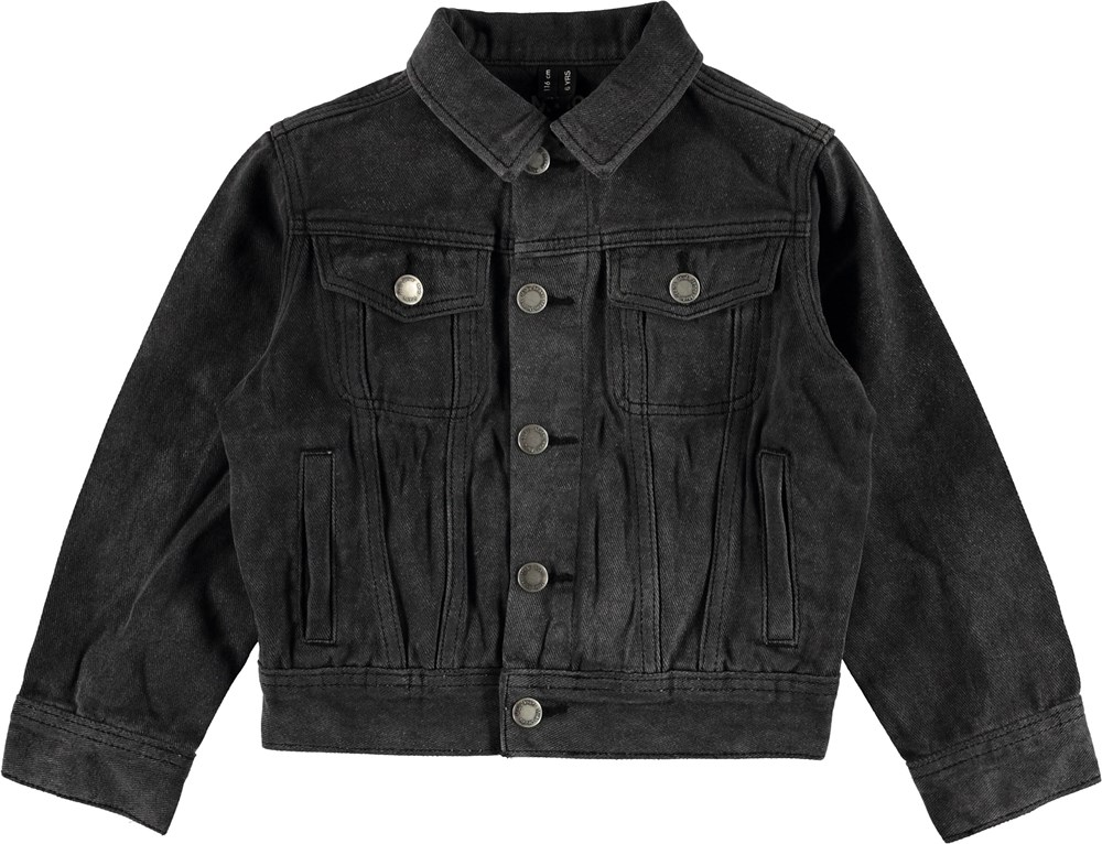 Harald - Washed Black - Dark grey denim jacket.